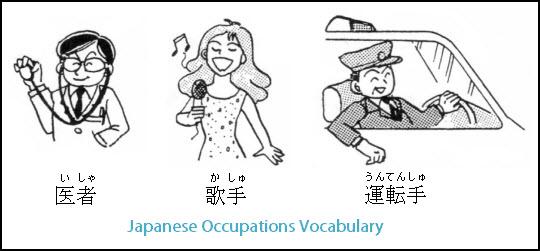 japanese occupations and jobs words and vocabulary