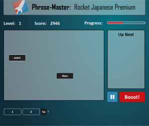 Rocket Japanese Phrase-Master Game