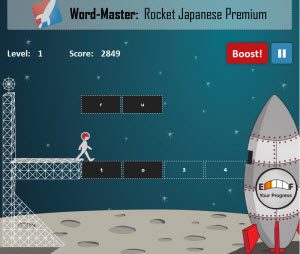 Rocket Japanese Word-Master Game