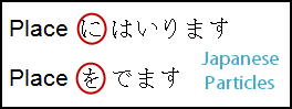 Japanese Particles: に/を