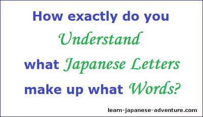 How exactly do you Understand what Japanese Letters make up what Words?