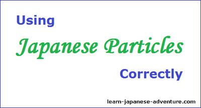 Using Japanese Particles Correctly