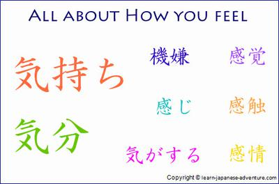 How you feel in Japanese