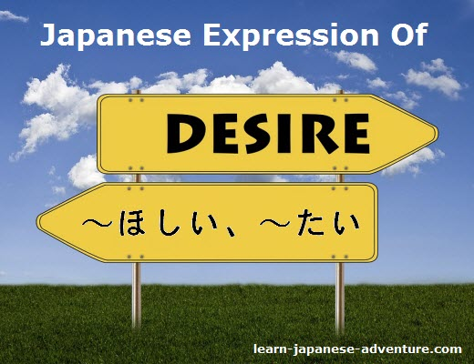 Japanese Expression of Desire